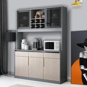 轻奢家用餐边柜靠墙酒柜一体厨房餐厅茶水碗柜现代简约客厅储物柜