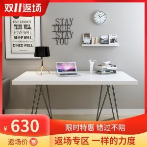 北欧风电脑台式桌ins网红书桌家用长方形桌子实木卧室写字台单人