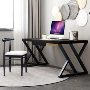 黑色书桌实木烤漆写字桌卧室长桌子意式简约办公桌电脑台式桌家用