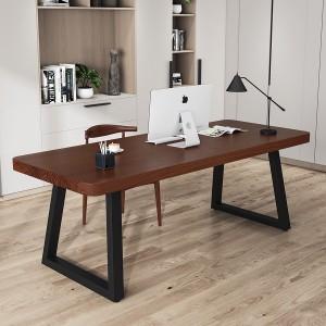 北欧实木电脑桌台式简约现代书桌家用简易写字学习桌子卧室办公桌