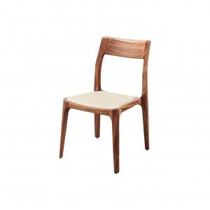 紫孔雀现代简约北欧风实木椅子餐厅休闲靠背家用