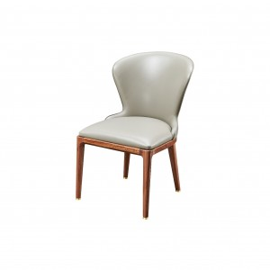 紫孔雀现代简约北欧风实木餐椅餐厅休闲收纳美观家用
