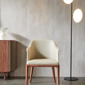 紫孔雀现代简约北欧风实木餐椅书椅休闲美观家用