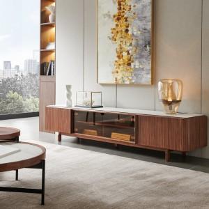 紫孔雀现代简约北欧风实木电视柜客厅休闲收纳美观家用