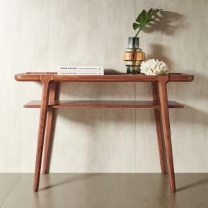 紫孔雀现代简约北欧风实木玄关客厅餐厅入户休闲家用