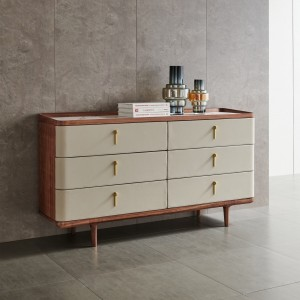 紫孔雀现代简约北欧风实木多功能柜卧室休闲收纳美观家用