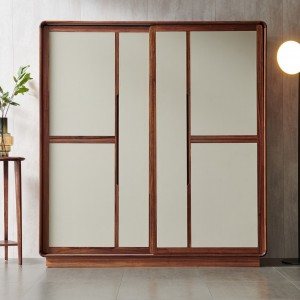 紫孔雀现代简约北欧风实木衣柜卧室休闲收纳美观家用