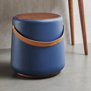 紫孔雀现代简约北欧风实木坐凳超纤卧室休闲美观家用