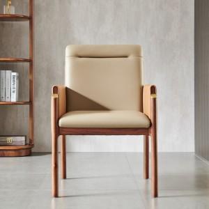 紫孔雀现代简约北欧风实木椅子书椅书房休闲靠背家用