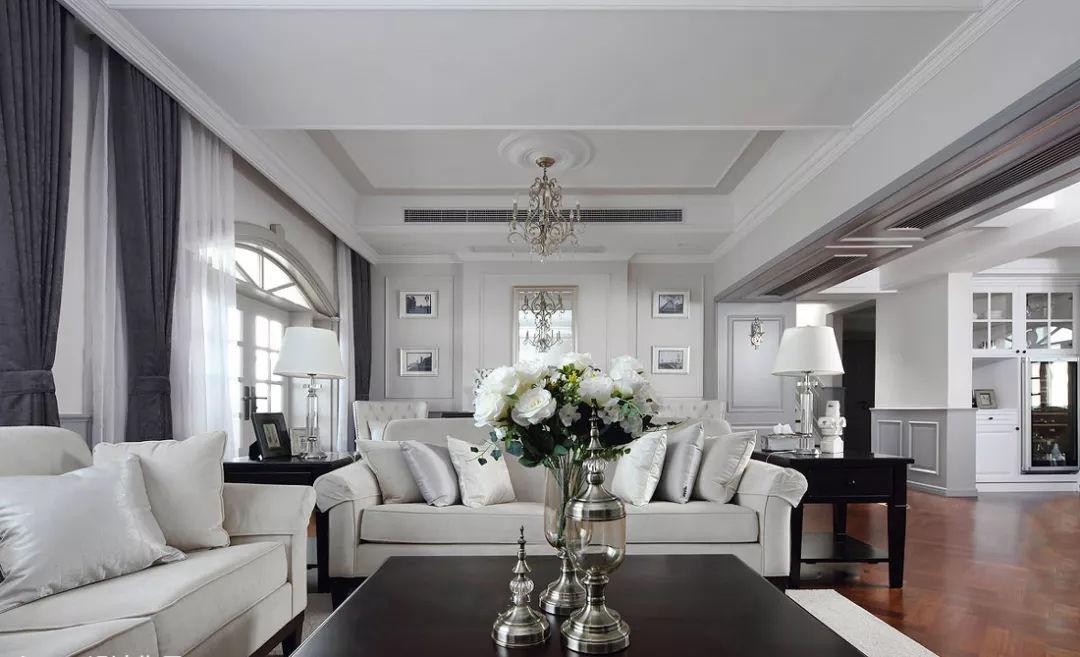客厅+石膏线,竟然可以这么美?!